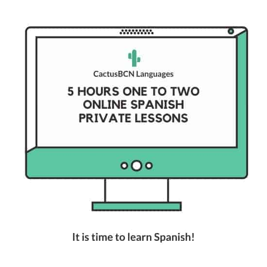 5 hours   One to two   Online Spanish Private Lessons